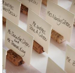 Wine Cork Place Card Holders Davine Food Wine